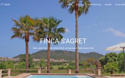 Neue Webseite für die Finca SAgret